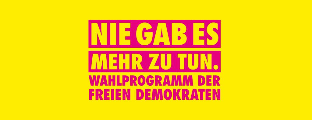 Bundestagswahl 2021 - FDP Programm
